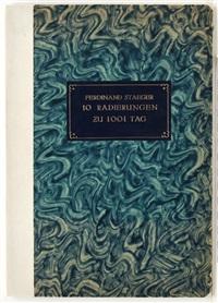 10 radierungen zu 1001 tag (portfolio of 10) by ferdinand staeger