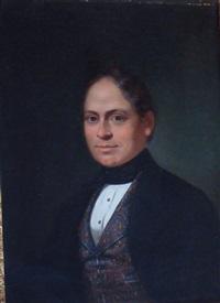 portrait d'homme au gilet cachemire by john joseph bilfeldt
