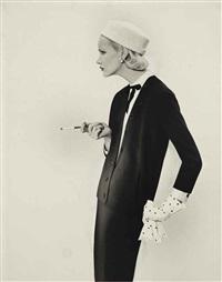 sunny harnett, suit by spectator limited by richard avedon