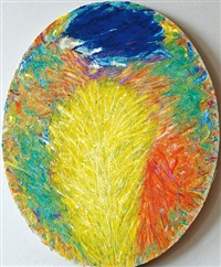 summer (painting in an ellipse) by miroslav snajdr