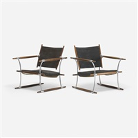 stokke lounge chairs, pair by jens quistgaard