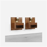 pair of nightstands from the hotel lorena, grosseto by luisa and ico parisi