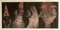 four masks by jiri anderle