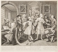 the rake's progress (8 works) by william hogarth