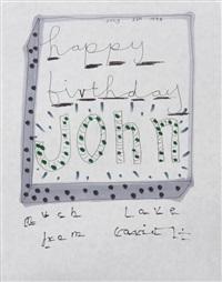 happy birthday john by david hockney