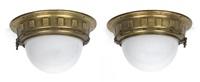 deckenlampen (pair) by otto wagner