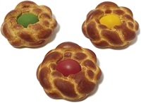 bread with egg set (set of 3) by jeff koons