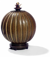 lidded vase by arno malinowsky and knud andersen