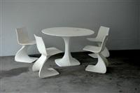 tisch mit vier stühlen naila (set of 5) by christian adam