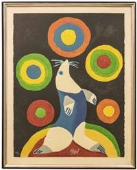 circus, portfolio i. lancer dans l'espace quelques fusees couleur (nmr 9 av 10) by karel appel
