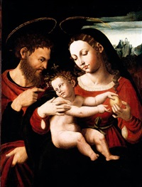 the holy family by vicente juan (de juanes) masip