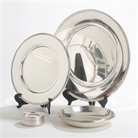 dish, plate, bowl and coasters (set of 15) by a. f. rasmussen