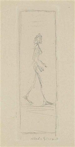 femme qui marche by alberto giacometti