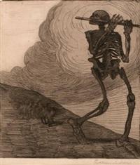 der tod (+ another; 2 works) by karl reisenbichler