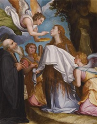 the last communion of mary magdalene by alessandro di cristofano allori