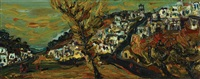 view of safed by yitzhak frenkel-frenel