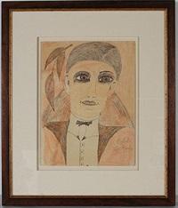man's portrait by lee godie
