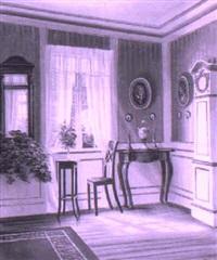 sunlit interior by frederik wilhelm svendsen