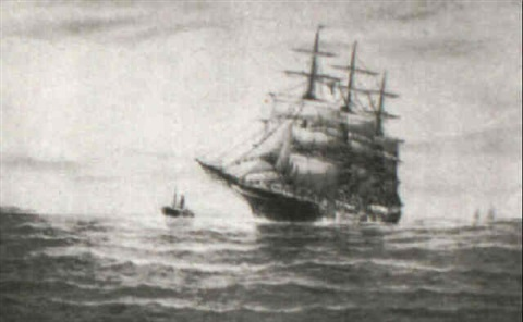 picking up a tow boat the whaleship aurora by g gordon arnold