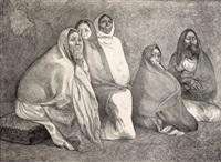 grupo de mujeres by francisco zúñiga