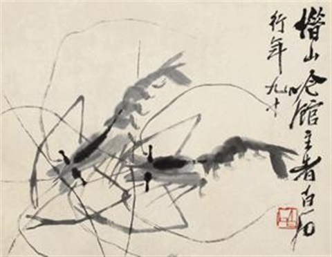 对虾 shrimp by qi baishi