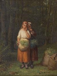 les jeunes cueilleuses by françois verheyden