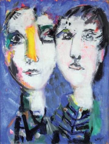 les deux visages by bernard lorjou
