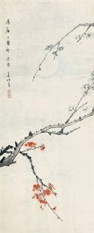 月下梅花 by jiang miaoxiang