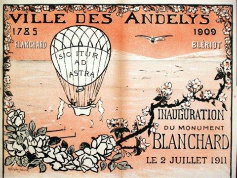 les andelys 1785 1909 blanchard blériot inauguration du monument blanchard le 2 juillet 1911 by albert adolphe