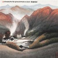 山村晚炊 by xu qinsong