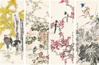 花鸟 (set of 4) by jia baomin