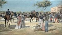 antes de la corrida en la plaza de las ventas by mariano obiols delgado