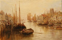 the river at boston, inshire by william webb