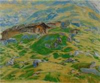 l'alpe au repos, grande scheidegg by henri-louis aubry