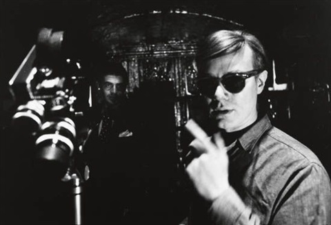 irving blum and andy warhol filming new york city by dennis hopper
