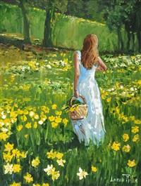 gathering daffodils by lorna millar