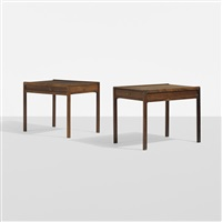 nightstands, pair by helge vestergaard jensen