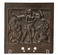 the dance, family musical bronze plaque by william zorach