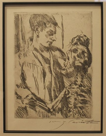 pferdestudie 2 others 3 works various dates sizes and editions by lovis corinth