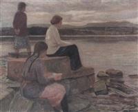 våraften ved fjorden, bygdo by otto hennig
