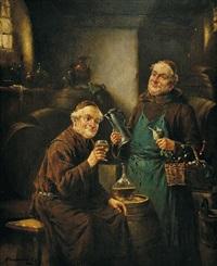 mniši ve vinném sklepě by lajos koloszvary