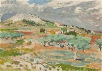 provencalische landschaft by hans olde