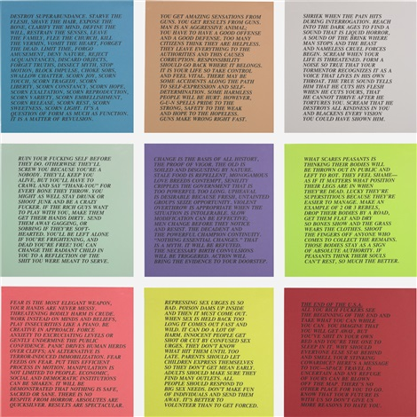 inflammatory essays set of 10 by jenny holzer