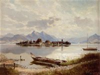 chiemsee mit fraueninsel by helmut stadelhofer