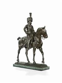 a hussar on horseback by pierre nicholas tourgueneff