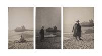marthe lebherz et constantin brancusi sur la plage de nice (au fond le casino de la jetée-promenade), fin février (3 works) by constantin brancusi
