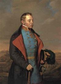 dreiviertelfiguriges portrété feldmarschall josef radetzky by c. gutsch