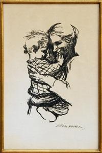 mother and child ii by käthe kollwitz
