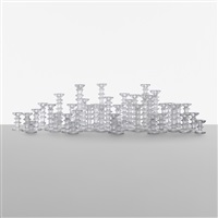 collection of forty festivo candlesticks by timo sarpaneva