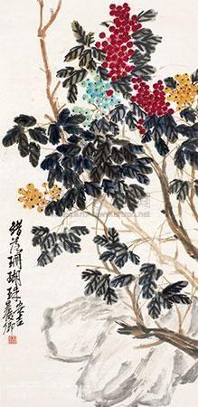 错落珊瑚珠 by wu changshuo